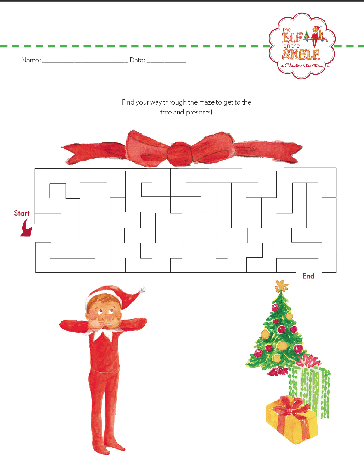 Elf On The Shelf Christmas Maze