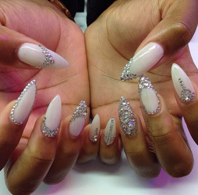Diamond pointed nails | Nails | Pinterest | Pointed nails, Nail nail ...