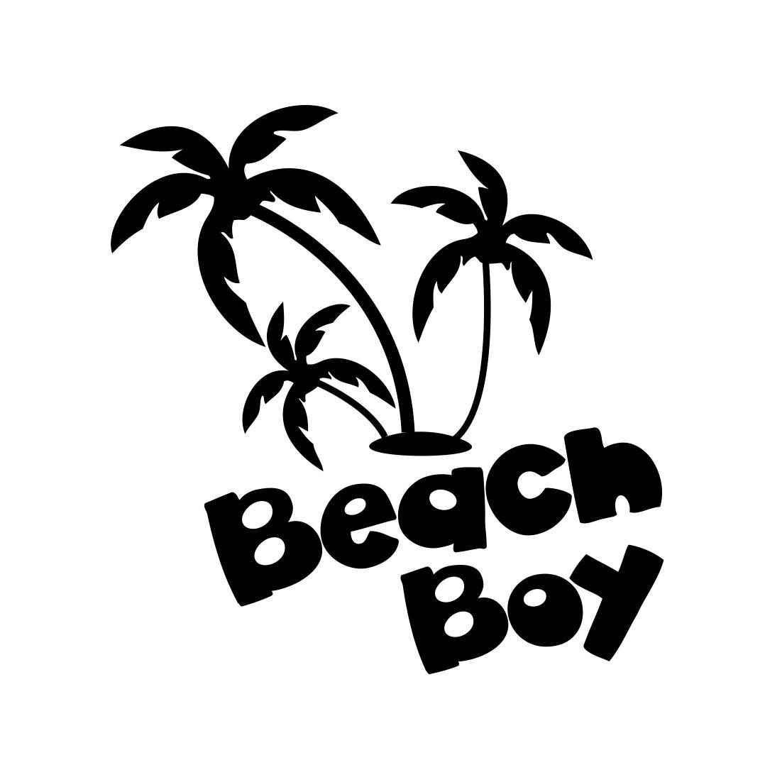 Beach Boy Palm Tree Phrase Graphics Svg Dxf Eps Cdr Ai