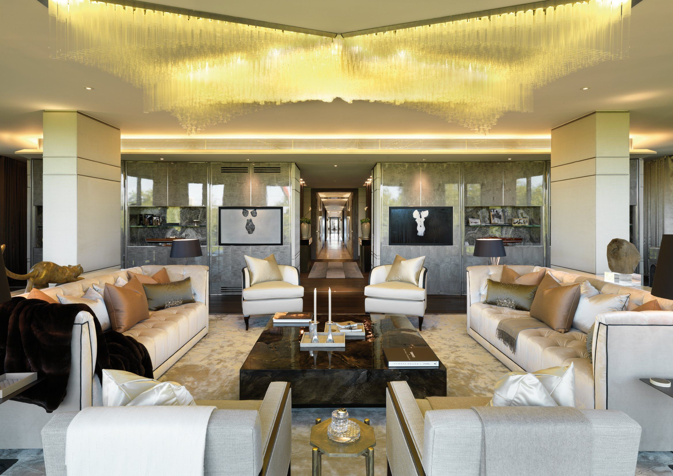 Formal Reception With Corridor Ohp 5 Bedroom Show Apartment
