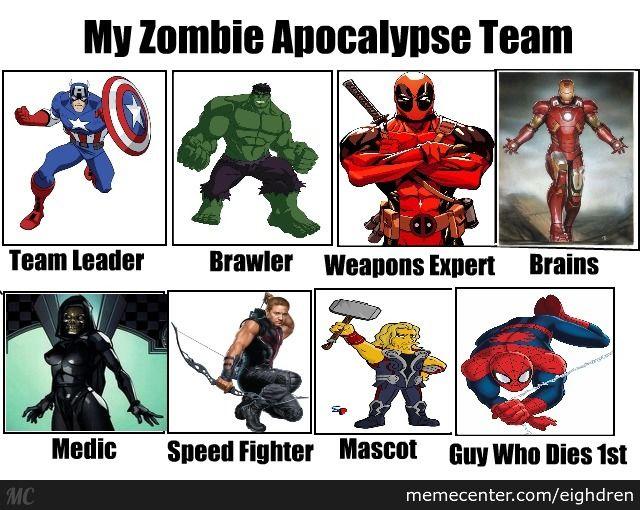 Marvel Memes Google Search Zombie Apocalypse Team Marvel Memes Marvel