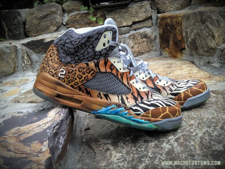 air jordan v 5 retro noahs ark by mache custom kicks (2)