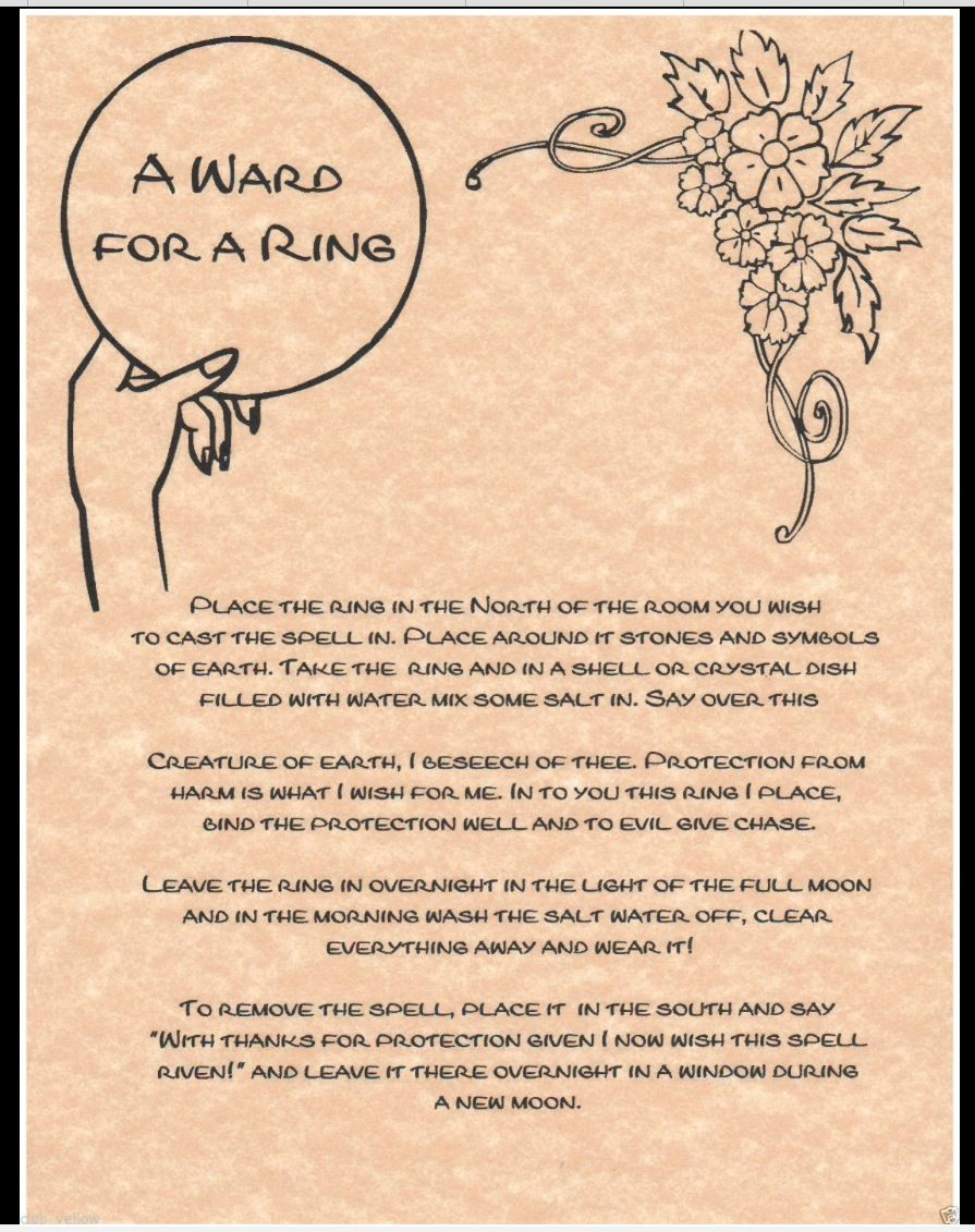 A Ward for a Ring | Witchy tips | Witchcraft spell books, Book of