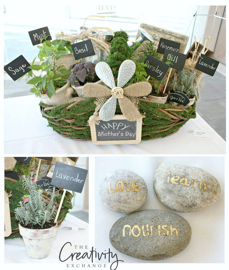 Herb Filled Moss Basket Diy Gift Idea Creative Diy Gifts