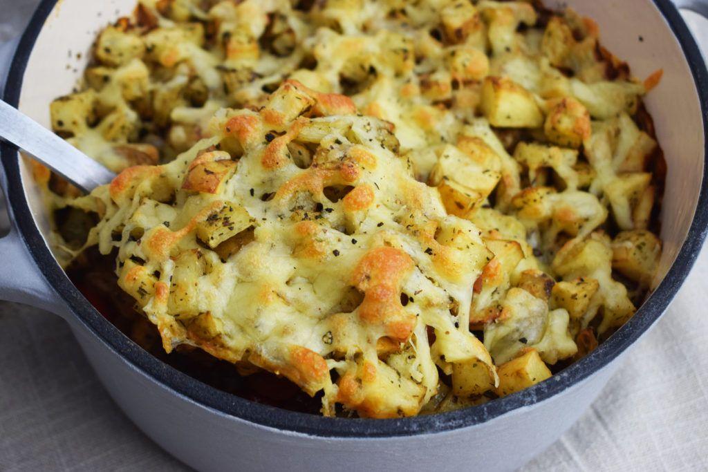 Crispy Roast Potato & Bolognese Bake