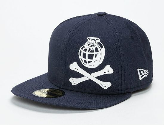 8d624a5ab0f TRAINERSPOTTER x NEW ERA「Grenade Bones」59Fifty Fitted Baseball Cap ...