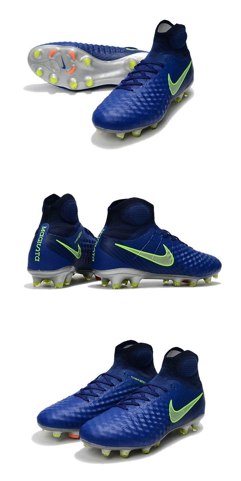 cheaper 1a3ca 95ac5 Crampons Football Nouvel Nike Magista Obra 2 FG Bleu Jaune ...
