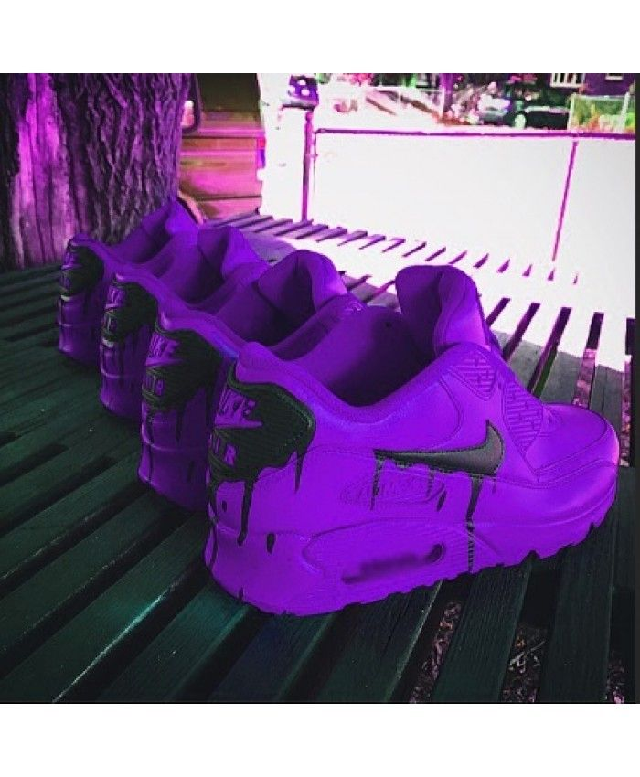 quality design 53a39 c6d2a Nike Air Max 90 Custom Candy Melt Purple Black Trainers Discount UK
