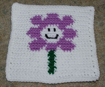 Row Count Flower Afghan Square Crochet Pattern Free Crochet