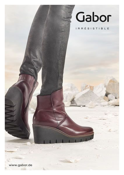 Bottines 120 Bordeaux €Collection GaborÀ Automne Hiver 2017 yvmn0wON8