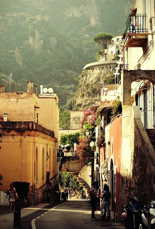 Positano, hillside, Amalfi