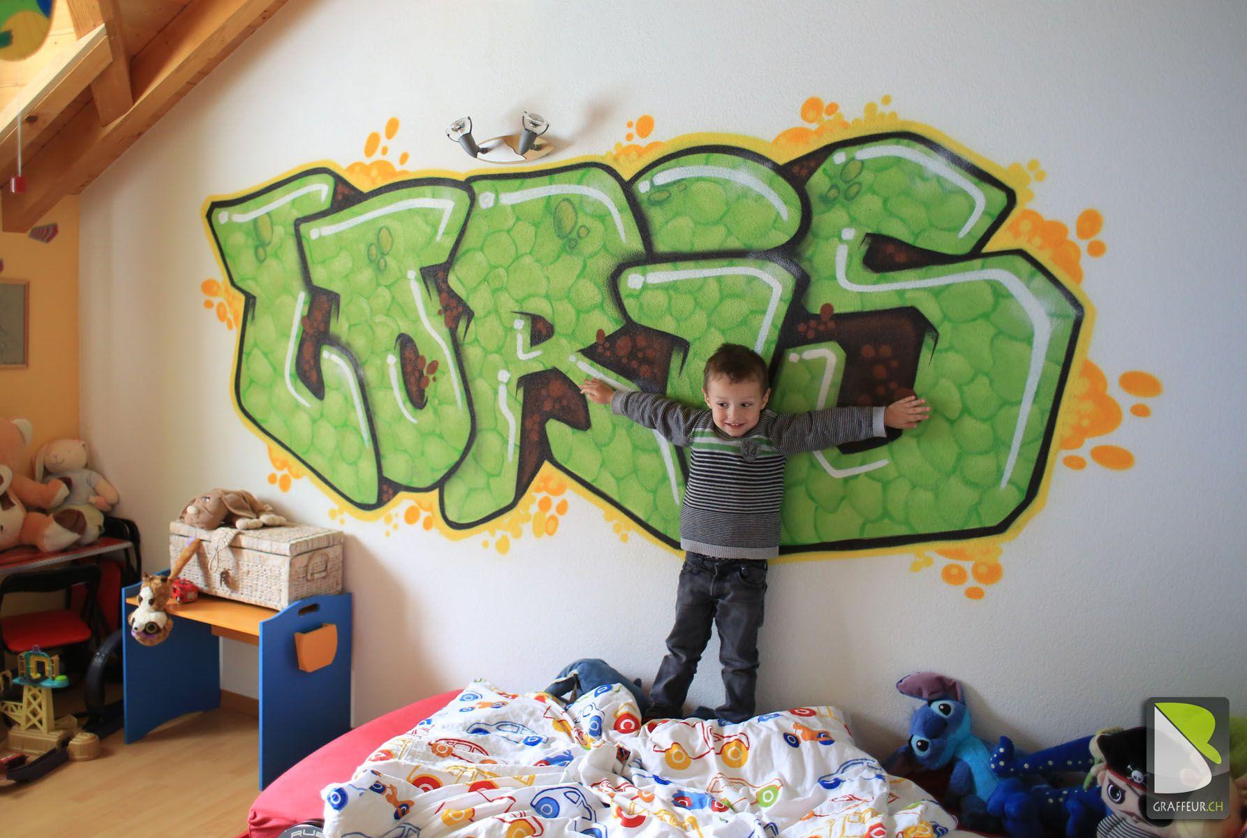 Chambre Graffiti enfant valais suisse prenon loris