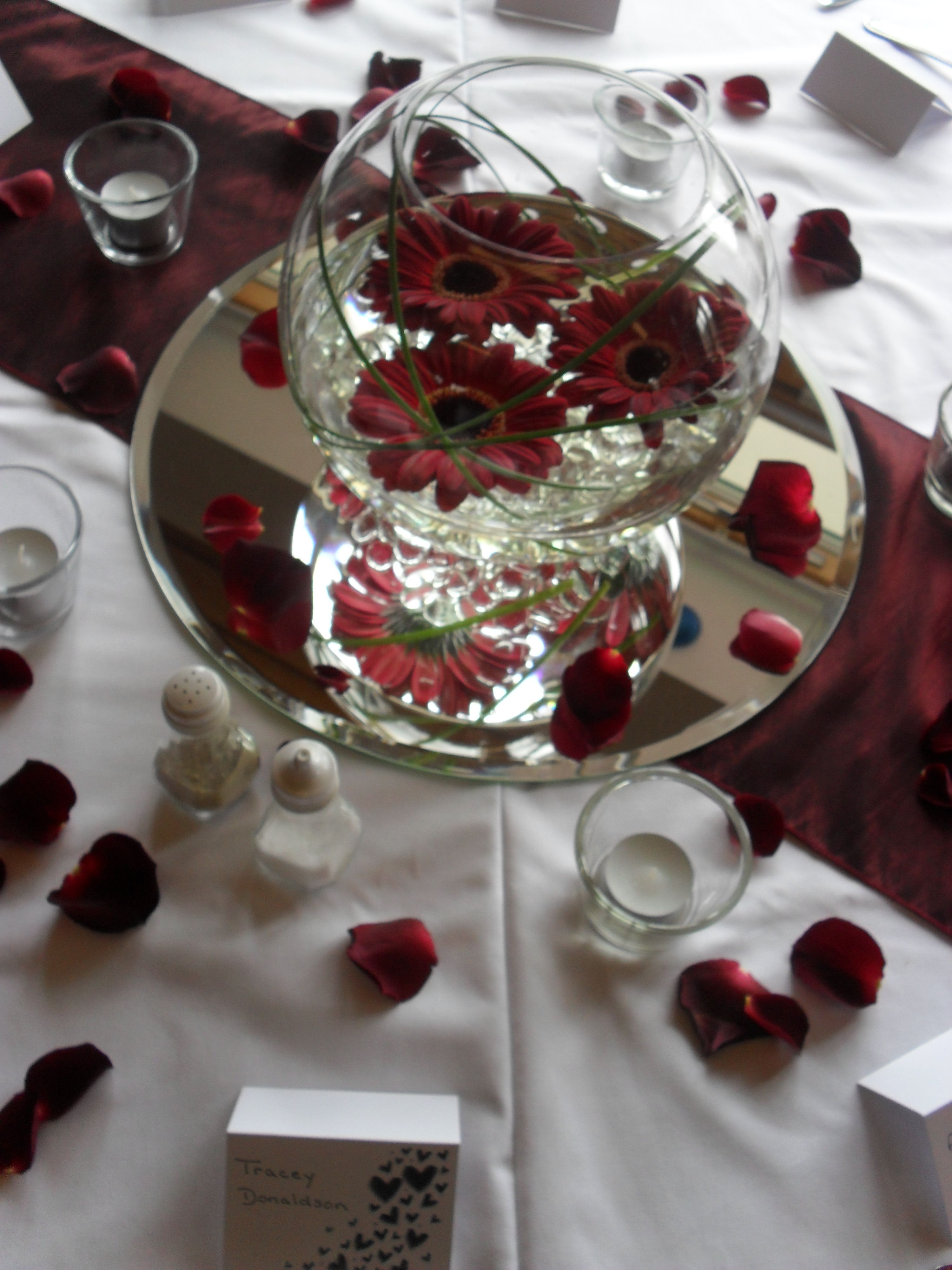 Fish bowl centrepiece for Fish centerpieces wedding receptions