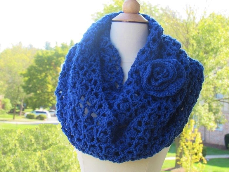 Charisma Infinity Scarf, Loopy Scarf, Free Crochet Pattern | Chal de ...
