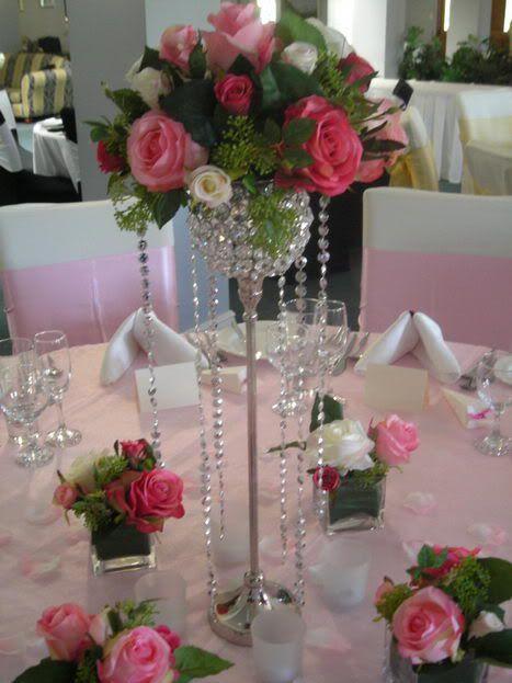 Centros de mesa accesorios de boda arreglos florales - Centro de mesa con flores artificiales ...