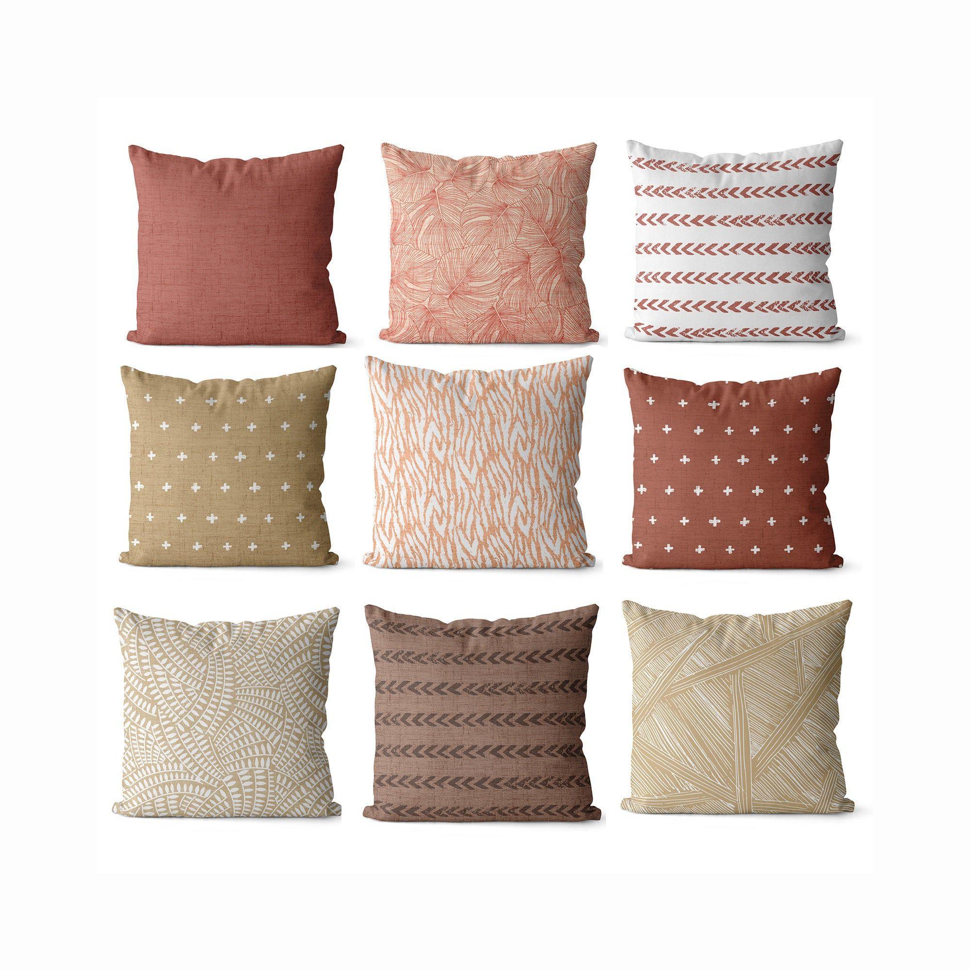 Boho Pillow Covers For Living Room Tan Pink Decor Boho Style Etsy In 2020 Boho Living Room Decor Pillow Covers Decorative Pillow Covers #pillow #covers #living #room