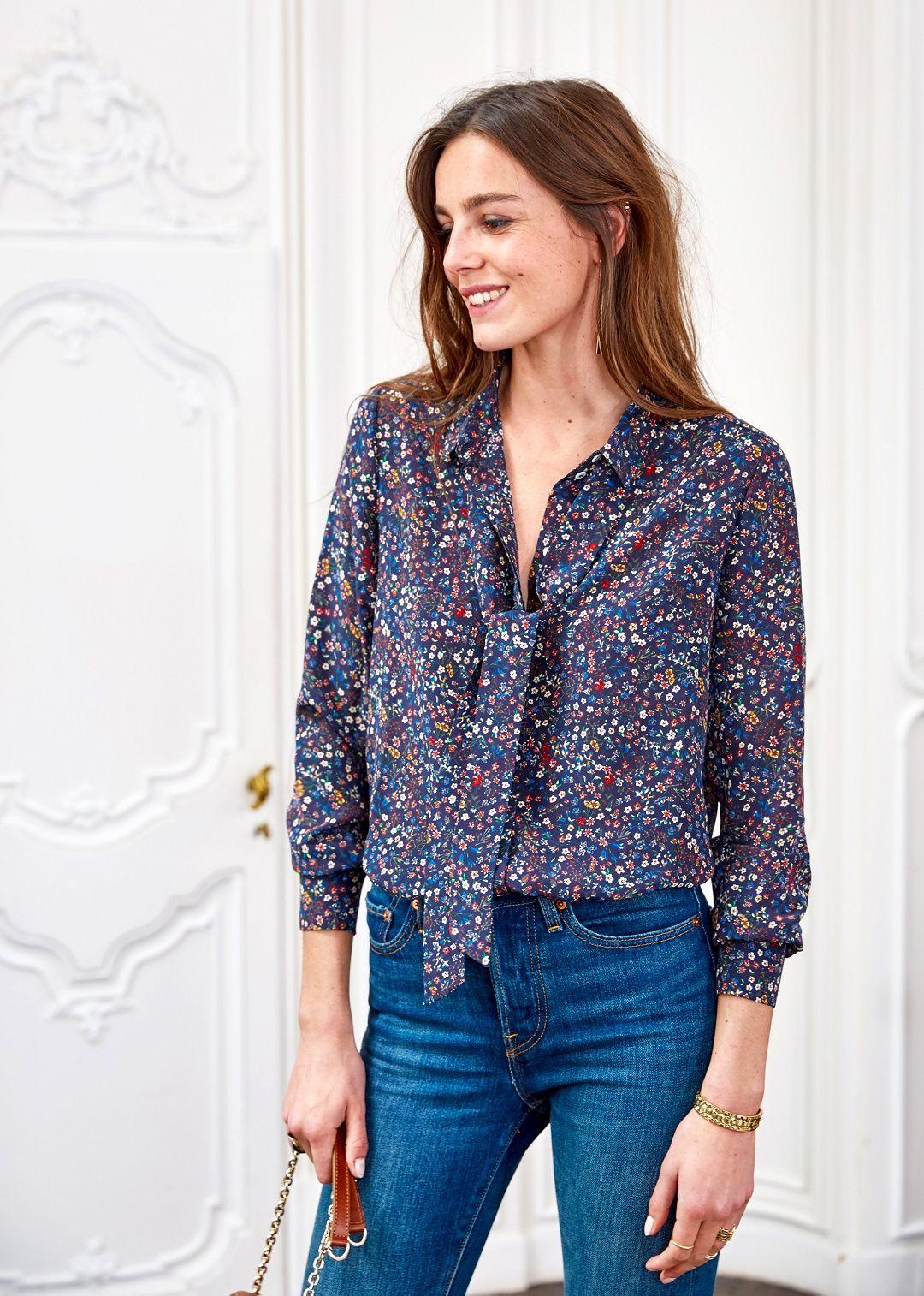 Sézane marta blouse sézane x alix thomsen spring style