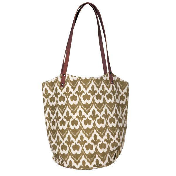 RockFlowerPaper Turkey Ikat Bucket Bag - Tan