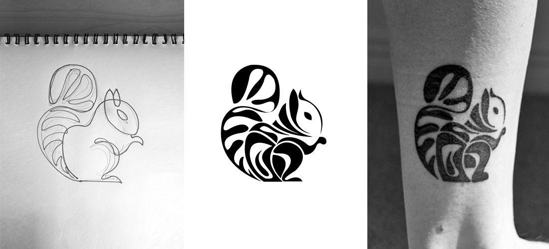 Geometric Squirrel Tattoo Design Inked Onto Ankle Swan Tattoo Squirrel Tattoo Tattoos