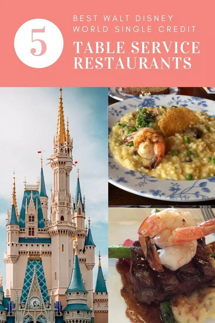 Single Credit Table Service 5 Best Disney World Restaurants