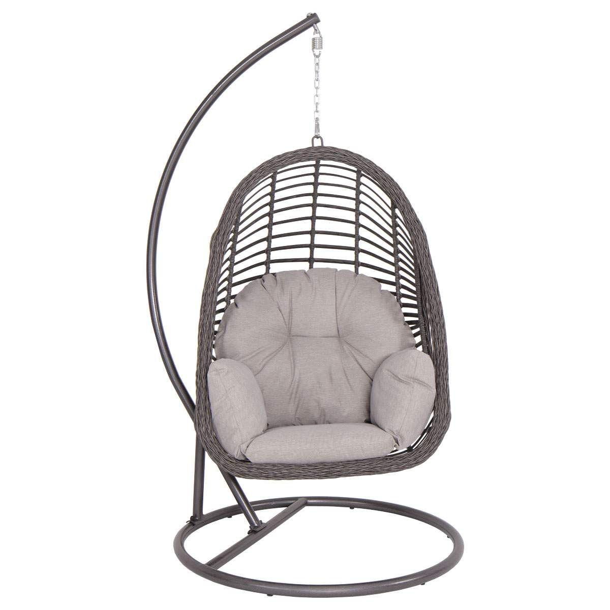 Hanging basket chair aluminum wicker patio furniture