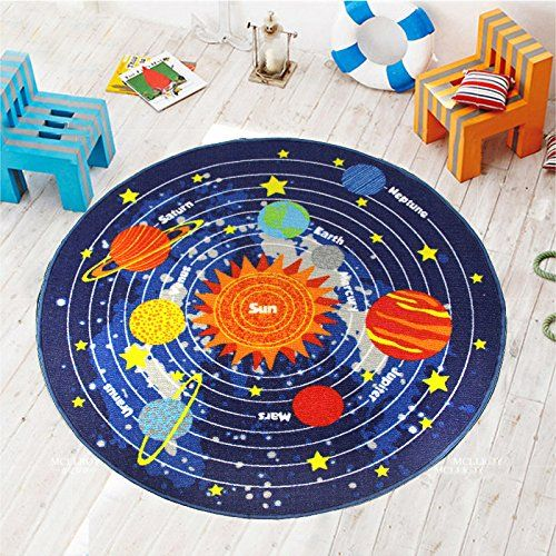 Kids Round Rug Solar System Learning Area Rug Childrenu0027s ... Https://