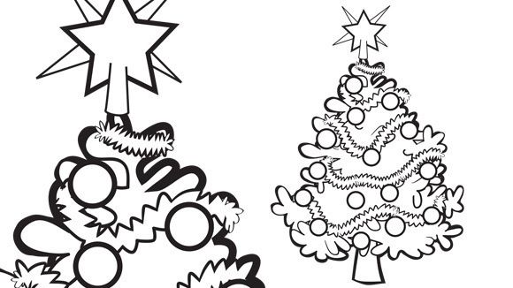 Holiday Series: Christmas Tree - Grandparents.com | Color Pages ...