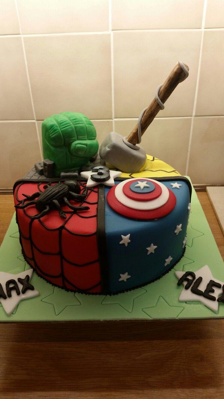 Admirable Marvel Superhero Cake London Swap Incredibles For Spider Man Funny Birthday Cards Online Elaedamsfinfo