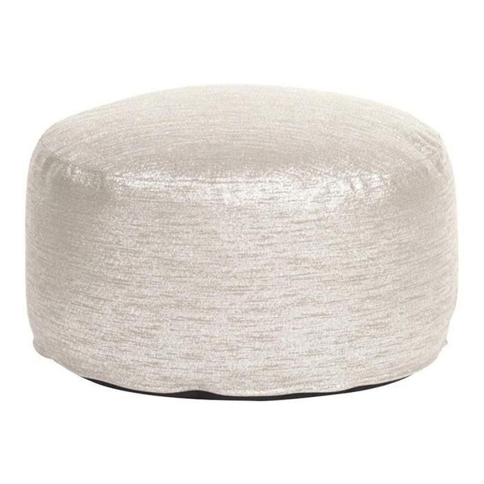 Foot Pouf Ottoman In Glam Sand