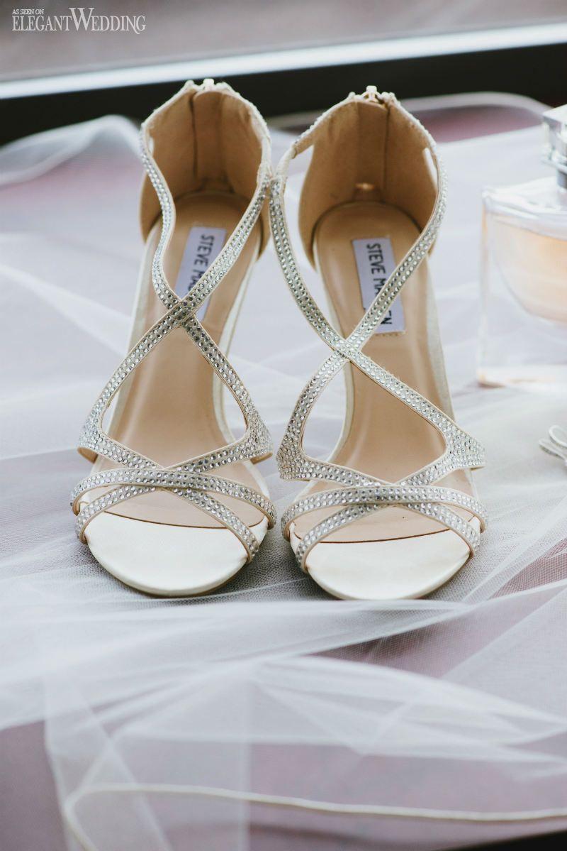 steve madden sparkly heel! elegant oceanside wedding in british