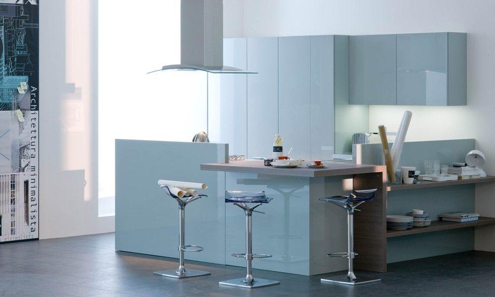 Veneta Cucine Extra in Laccato Azzurro Ghiaccio | Kitchen | Kitchen ...