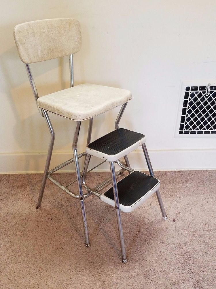 Vintage Retro Mid Century Modern Cosco Step Stool Chair 1950s