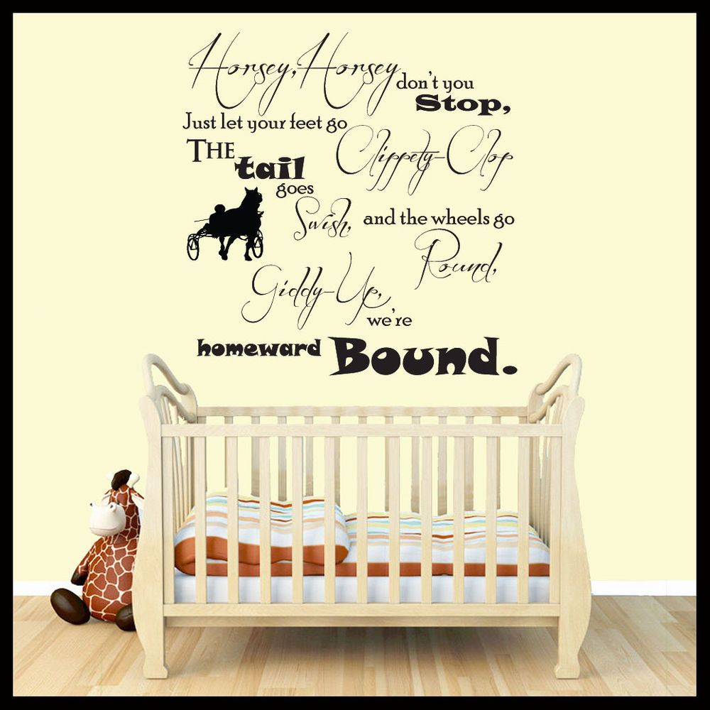 Nursery Rhyme Wall Stickers Quotes
