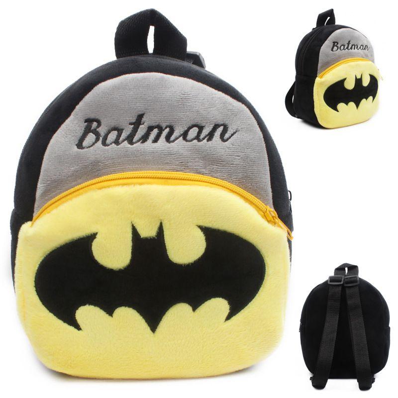 Toddler Kids Boy Girl Mickey Cartoon Superhero Backpack Schoolbag Plush Rucksack