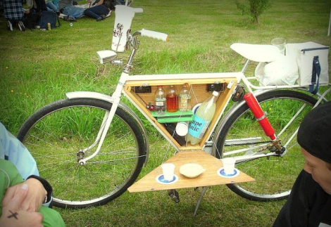 This Nifty Accessory Turns Your Bike Into A Minibar Bicycle