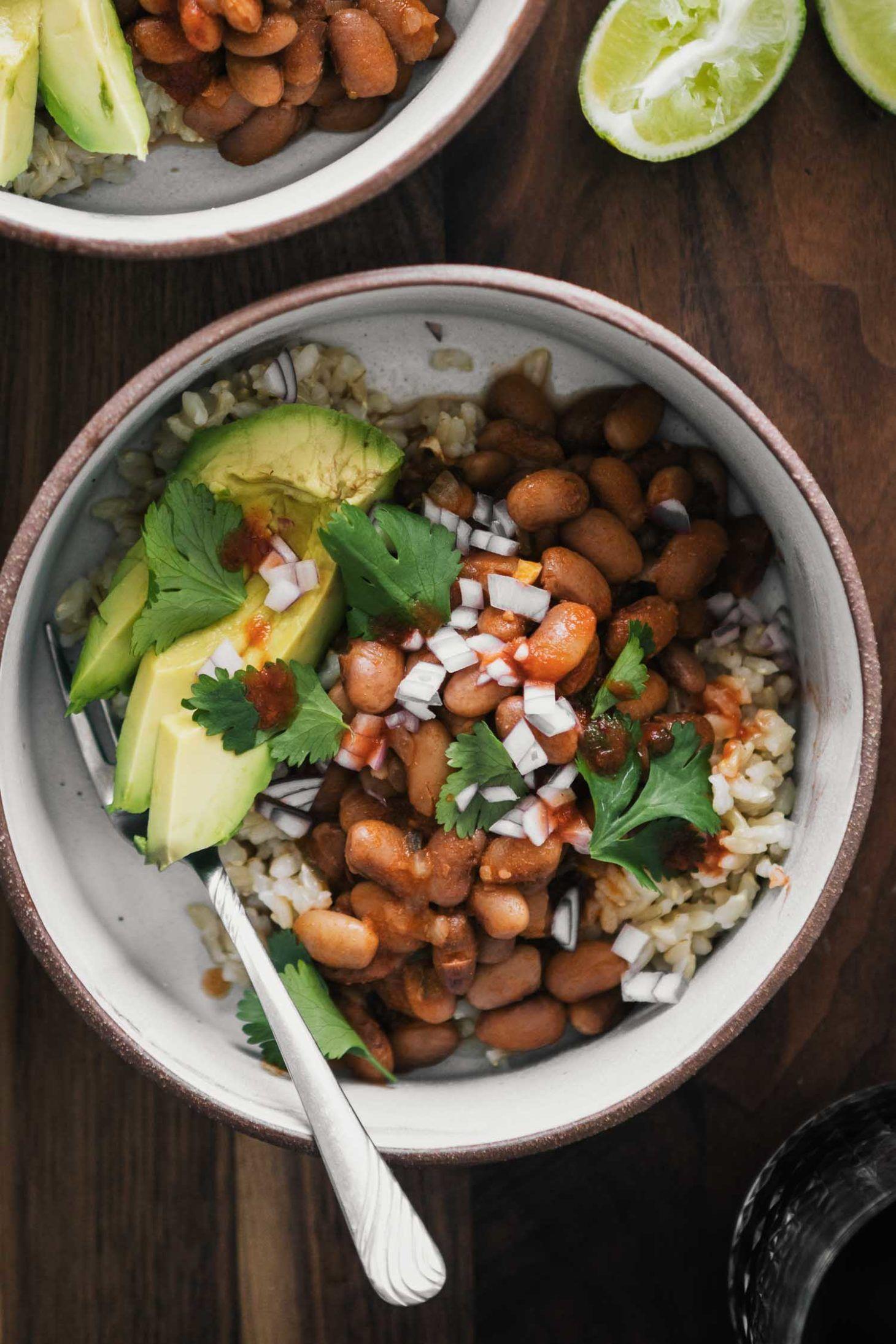 Spiced Pinto Bean Bowls With Avocado