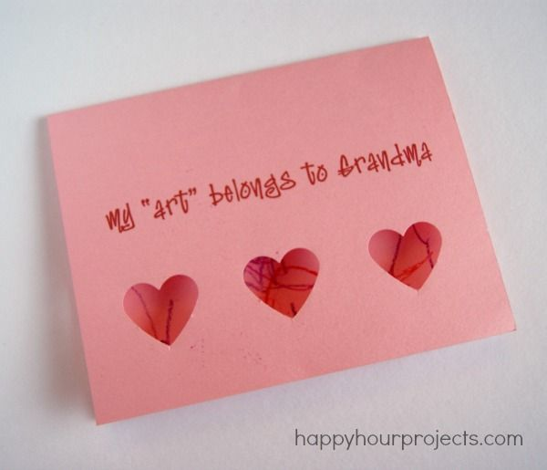 Toddler Art valentines