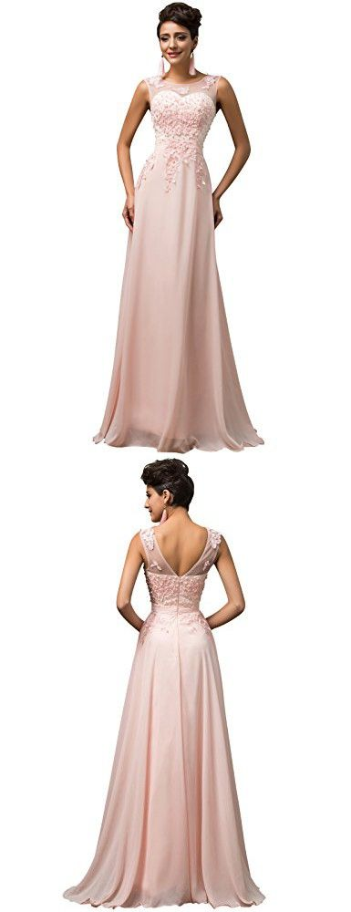 Elegant Breads Pink Long Prom Dresses for Party and Weddings Plus ...