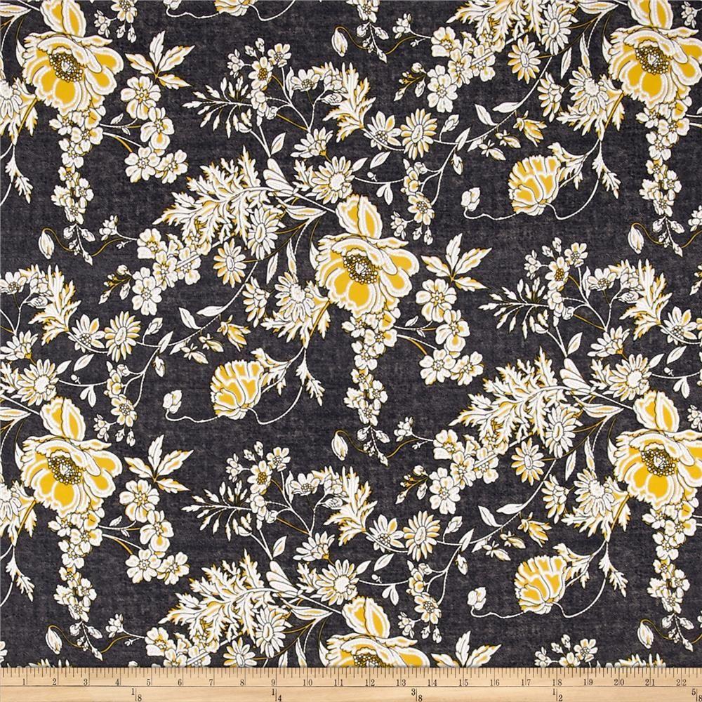 8c8d7fbd509 Telio Venice Stretch ITY Knit Floral Print Black from @fabricdotcom Venecia  ITY (interlock twist yarn) jersey knit fabric has an ultra silky and  slightly ...
