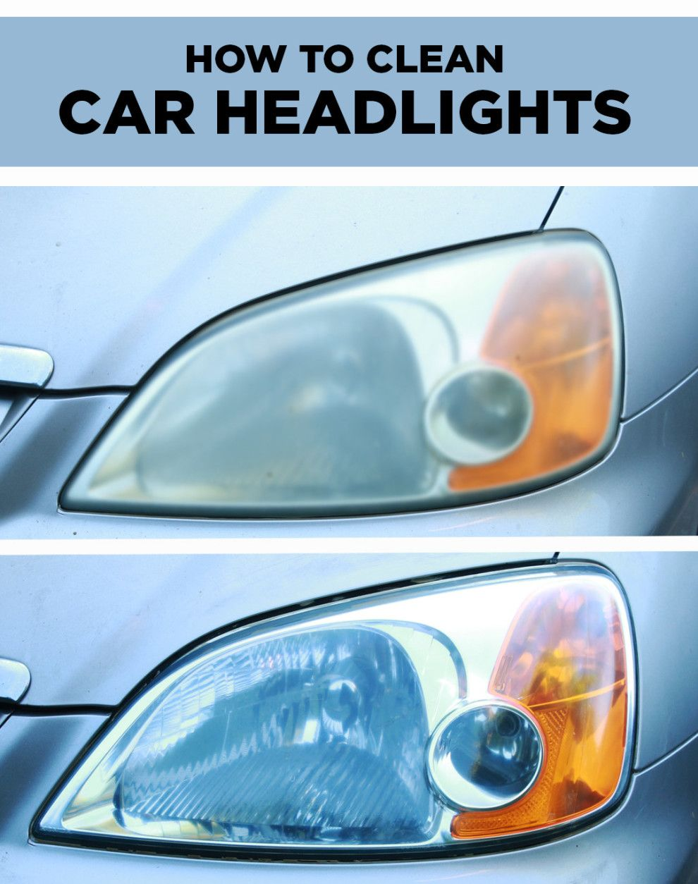 dirty car headlights are no match for this clever cleaning hack car headlights cars and car. Black Bedroom Furniture Sets. Home Design Ideas