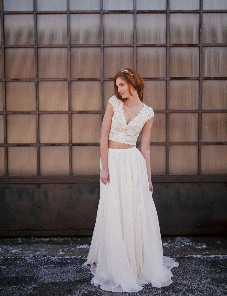 2018 Two Piece Wedding Dress