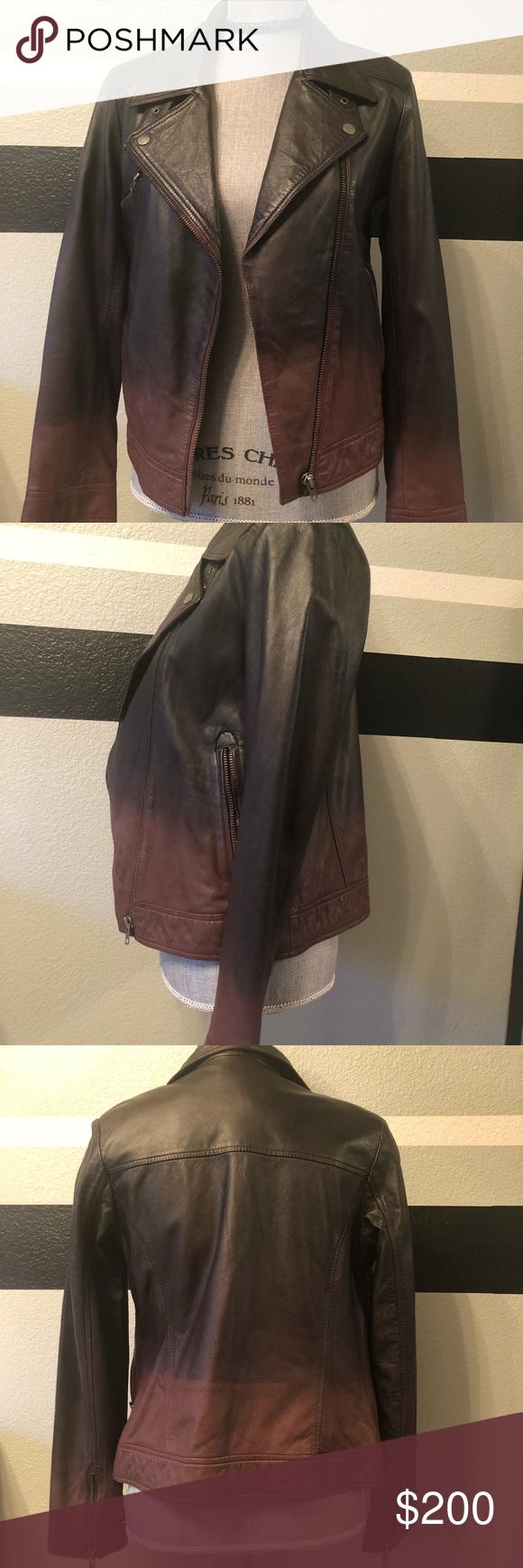 100 genuine leather ombré jacket ! Ombre jackets