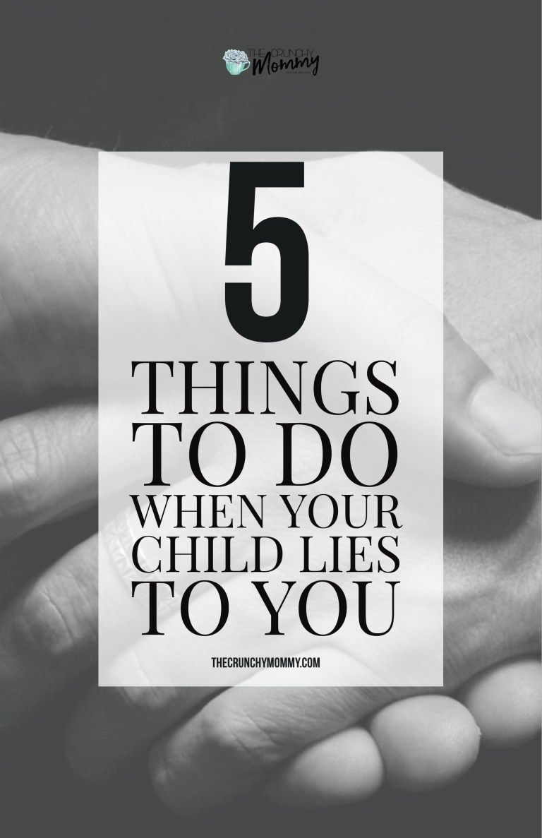 what do you do when your child lies
