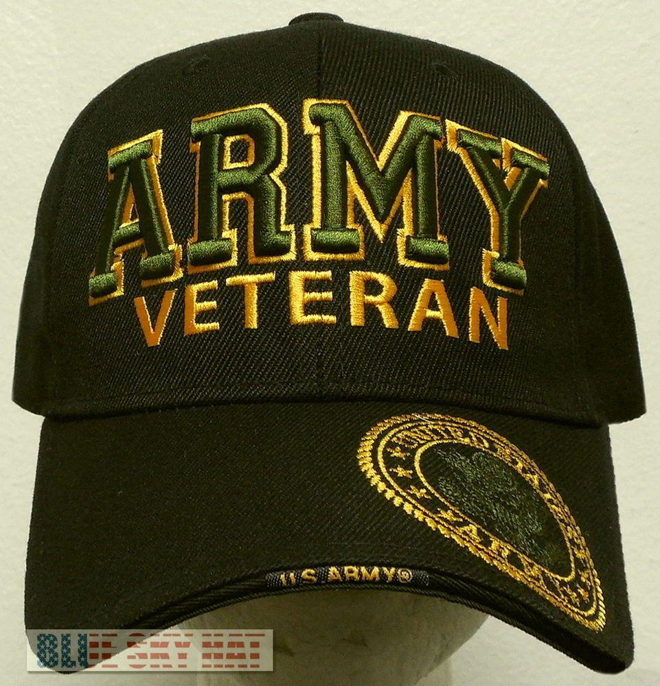 2eddabc798c OFFICIAL LICENSED MILITARY UNITED STATES ARMY VETERAN VET CAP HAT BLACK  OLIVE OS  PremiumHat  BaseballCap