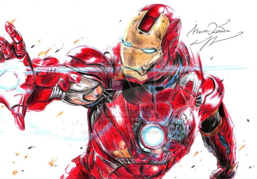 Iron Man Tony Stark By Bring The Pain40 Deviantart Com Arte Ilustraciones