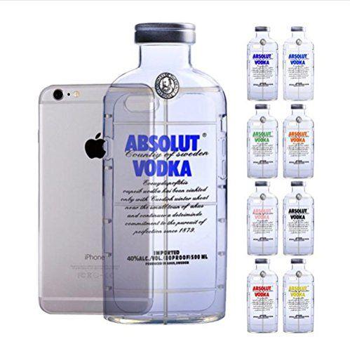 AFAITH iPhone 6 (4,7 Zoll) Hülle, Mini TPU Case Schutzhülle Silikon Wodka Case Durchsichtig für iPhone 6