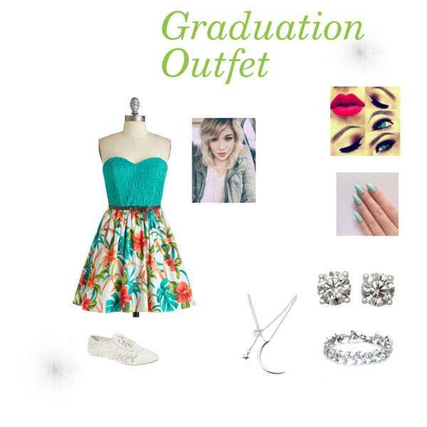 Graduation outfet by baby-jaquar on Polyvore featuring Wet Seal and Forever 21