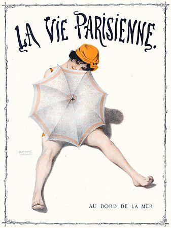 At the Seaside. La Vie Parisienne print. 1913  http://www.vintagevenus.com.au/vintage/reprints/info/MISC262.htm