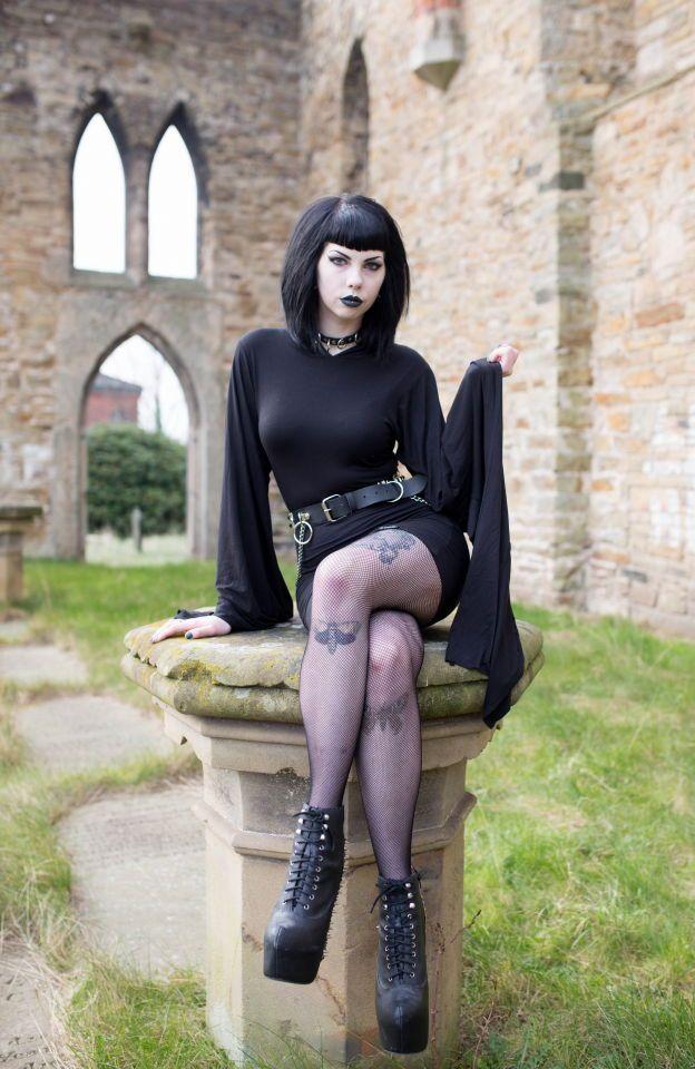 Goth crossdresser