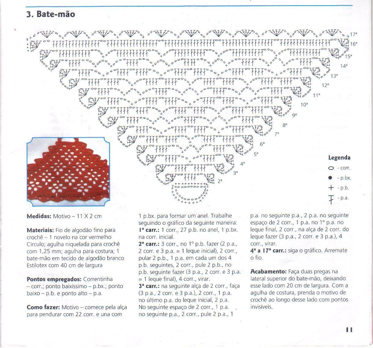 graficos de bate mão de croche - Pesquisa Google | croche ...